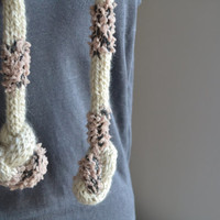 Very long scarf Handmade scarf Wool Rope Neck Warmer Spring Knit Cable Scarf Trendy