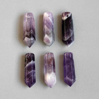 2pcs Amethyst Point Cabochon  B85 by StoneAge2 on Etsy