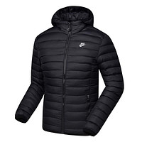 NIKE Woman Men Fashion Cotton Cardigan Jacket Coat Windbreaker