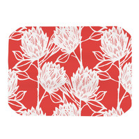 """Gill Eggleston """"Protea Strawberry White"""" Red Flowers Place Mat"""