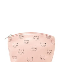 Cat Print Makeup Bag | Forever 21 - 1000221506