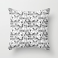 Oh Pugs Throw Pillow by Huebucket