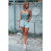 Escape From Ordinary Cropped Top: Metallic