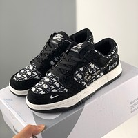 Nike Dior printed flat casual sport low-top shoes for men and women