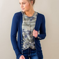 Snap Sleeve Cardigan- 3 Options