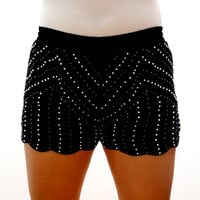 Black Pearl of The Sea Scalloped Shorts