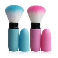1pc Portable Retractable Brush Loose Powder Brush Blush  Makeup Brush