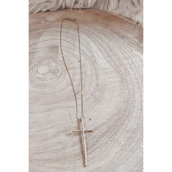 SAHIRA 18K Gold Incanto Maxi Cross Necklace