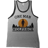 One Man Wolfpack Mens Tank Top - the hangover 1 2 3 alan t-shirt zach galifianakis tee allen tshirt geek funny adult youth sizes