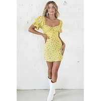 You Do You Sis Yellow Floral Dress