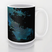 Blue, Night, Sky, Stars - Ceramic Mug, 2 Sizes Available - Kitchen, Bathroom, New Home or Apartment, Gift, Coworker - Made To Order-NSIJ#76
