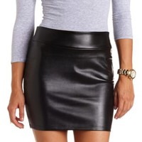 Faux Leather Bodycon Mini Skirt by Charlotte Russe - Black
