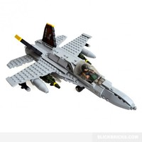 FA-18 Hornet Fighter Plane - Lego Compatible Model