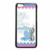 Olaf Quote Melting The Disney Frozen Pink Blue Chevron iPhone 5c Case