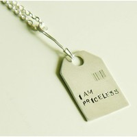Priceless Necklace Feel Good Series by yellowgoat on Etsy
