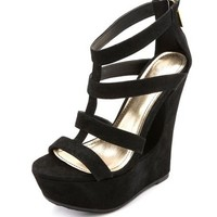 Zip-Back Caged Cutout Wedge: Charlotte Russe
