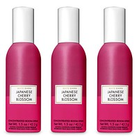 Bath and Body Works 3 Pack Japanese Cherry Blossom Concentrated Room Spray 1.50 Oz.