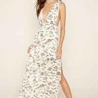 Botanical Print Maxi Dress