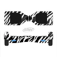 The Simple Vector Zebra Animal Print Full-Body Skin Set for the Smart Drifting SuperCharged iiRov HoverBoard