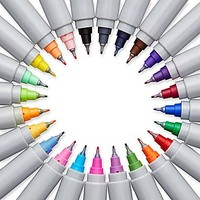 Sharpie Electro Pop Limited Edition Ultra Fine Point Permanent Markers, Assorted, 24\/Pack (1927351) | Staples®