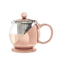 Shelby™ Glass and Rose Gold Wrapped Teapot by Pinky Up