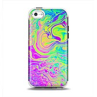 The Neon Color Fushion Apple iPhone 5c Otterbox Symmetry Case Skin Set