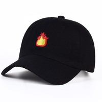 Fire Emoji Embroidered Hat