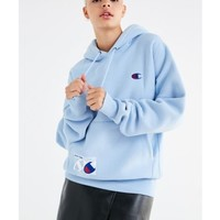 Urban Outfitters x Champion Champion & UO Novelty Graphic Hoodie Sweatshirt - Sky XL at Urban Outfitters from Urban Outfitters | ShapeShop