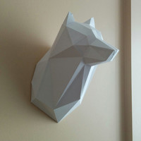 Printable Paper Model of Wolf Trophy - DIY - PDF Pattern