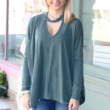 Cut It Out Long Sleeve {Sage}