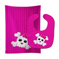 Skull and Cross Bones Baby Bib & Burp Cloth BB8780STBU