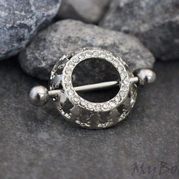 Crystal Nipple Ring