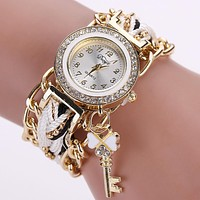 2017 Weave Hand montre femme Fashion Watches Women Luxury reloj mujer Gold Crystal White Analog Quartz Watch For Ladies relojes