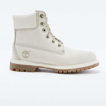 """Timberland 6"""" White Premium Boots - Urban Outfitters"""