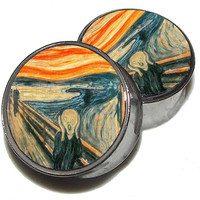 "The Scream Plugs - 1 Pair - Sizes 2g, 0g, 00g, 7/16"", 1/2"", 9/16"", 5/8"", 3/4"", 7/8"", 1"""
