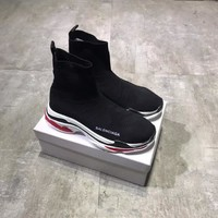 """Balenciaga"" Women Fashion Multicolor Thick Bottom Knit  Socks Hight Tube Sneakers Casual Running Shoes"