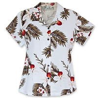 moon hawaiian lady blouse