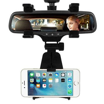 Universal Car Rearview Mirror Holder For Cell Phone GPS