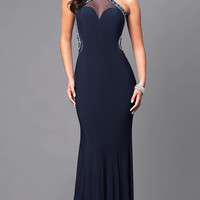 Long Prom Dress with Jewel Embellishments