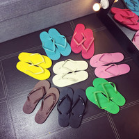 2017 Hot Summer Flip Flops shoes women US European Fashion Soft Leisure Sandals Beach Slipper indoor outdoor Sandals flip-flops