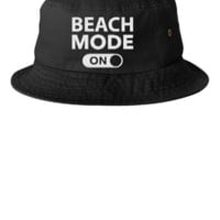 beach mode embroidery - Bucket Hat