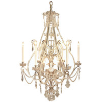 French 19th century Louis XV st. silvered bronze and Baccarat crystal chandelier