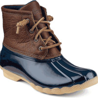 Sperry Top-Sider Saltwater Duck Boots for Women in Tan and Navy STS91175