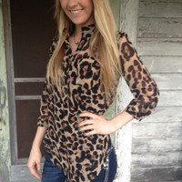 Leopard Sheer Top