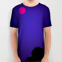 Rise Of The Pink Moon  All Over Print Shirt by Faded  Photos