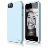 iPhone SE, elago® Flex Case for the iPhone SE/5/5S - eco friendly Retail Packaging - Cotton Candy Blue