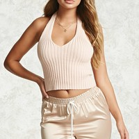 Ribbed Knit Halter Top