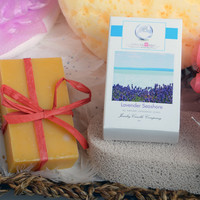 Lavender Seashore Ring Soap  (Pick Your Ring Size)