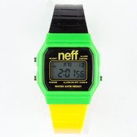 Neff Flava Digital Watch Lemon/Lime One Size For Men 19880664901