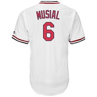 Stan Musial St. Louis Cardinals 1967-1997 Cooperstown White Cool Base Jersey